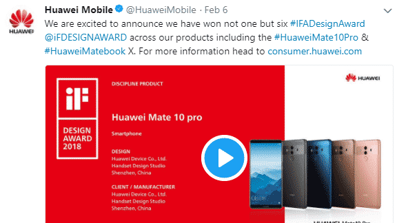 Huawei winning award
